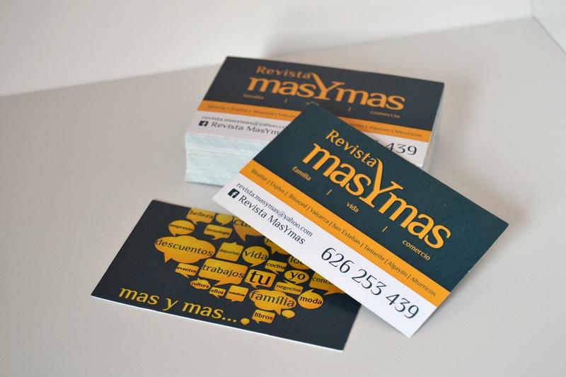 Tarjeta visita Revista masYmas